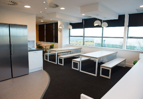 Amazon Phase 1 Office Fitout Contact Centre Cork - Canteen