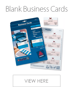 Avery Blank Business Cards