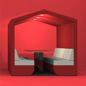 Bea Meeting Den - Red & Grey
