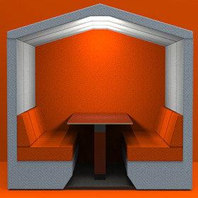 Bea Meeting Den - Grey & Orange