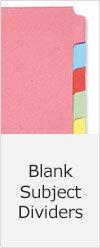 Blank Tab Subject Dividers