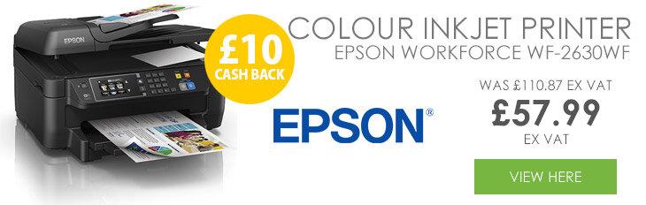Epson WorkForce WF-2630WF Multifunction Colour Inkjet Printer Wireless