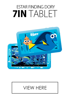 eStar 7in Finding Dory Themed Tablet 8GB Storage Blue