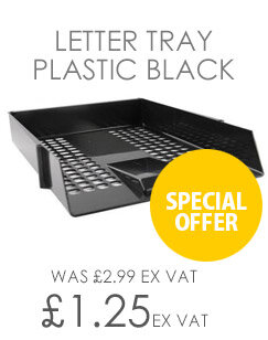 Q-Connect Letter Tray Plastic Black