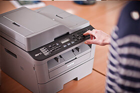 Brother MFC-L2700DW Compact Mono Laser All-in-One Printer Fax Wi-Fi