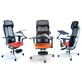 mposition ergonomic office chair  hunt office uk