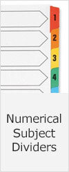 Numerical Subject Dividers