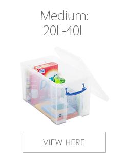 Medium Plastic Storage Boxes 20-40L
