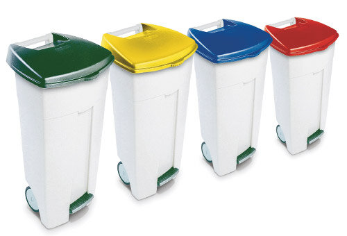 colour coded bins