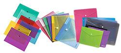 colours plastic wallets