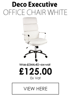 Deco Executive Office Chair White