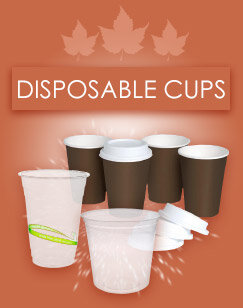 disposable cups and glasses