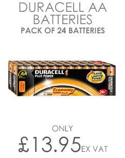 Duracell Plus Power AA Battery Alkaline 1.5V (24 Pack)