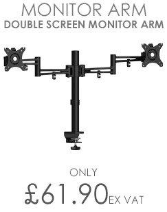 Luna double flat screen monitor arm - black