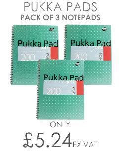 pukka pads pack of 3