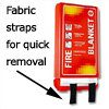 fabric straps for easy removal