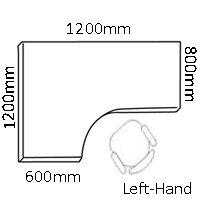 Jemini 1200mm Left Hand Cantilever Radial Desk Beech