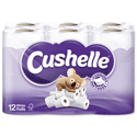 Cushelle Toilet Rolls 2-Ply 180 Sheets White Pack of 12 Toilet Paper Rolls