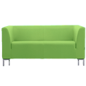 Sigma 2 Seater Sofa - Lime Green Fabric